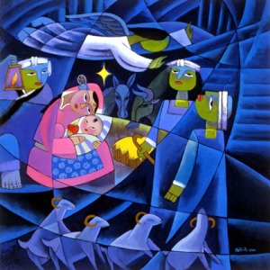 Nativity by He Qi
