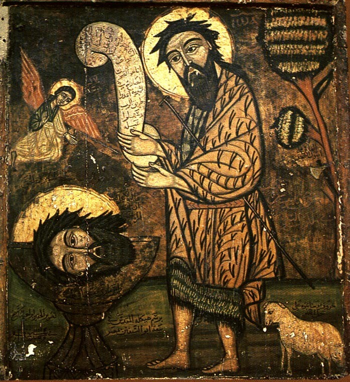 coptic icon john the baptist