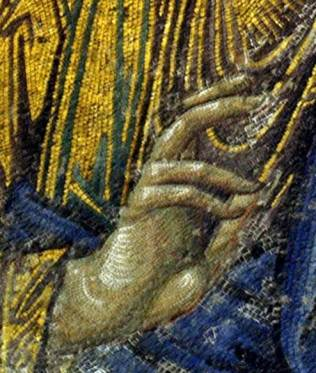detail from the Hagia Sophia mosaic of Christ