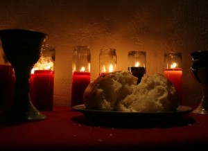 communion elements candles Lars Hammar