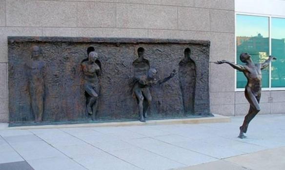 Freedom - A sculpture by Zenos Frudakis