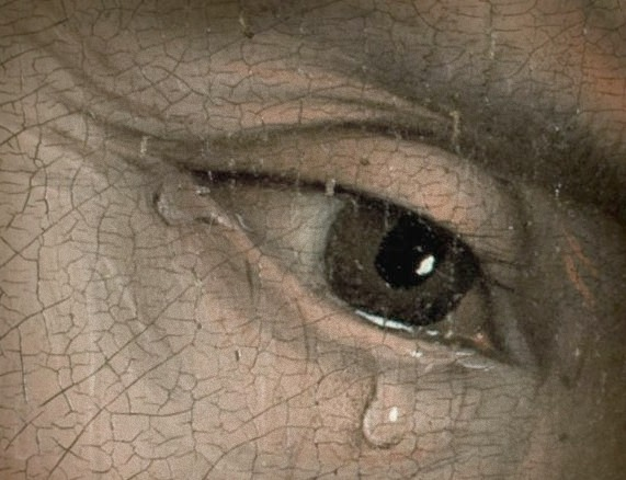 Detail from Descent from the Cross by the Flemish artist Rogier van der Weyden
