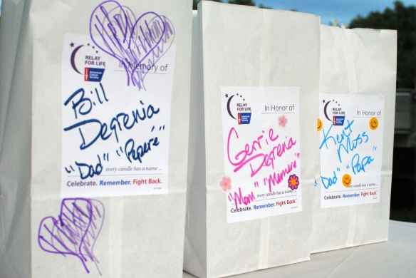 Relay for Life Luminarias, photo by Lisa Ann Moss Degrenia