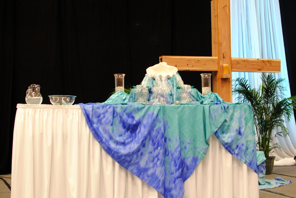baptismal reaffirmation service altar table