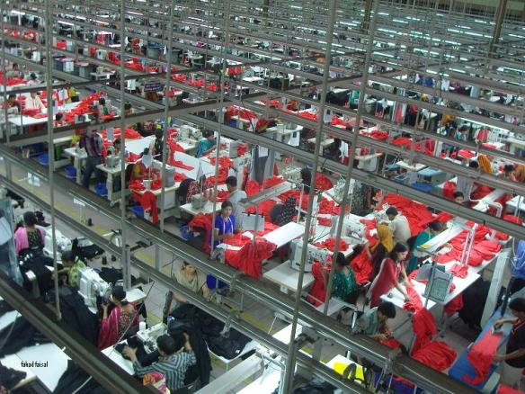 Garments Factory in Bangladesh, photo by Fahad Faisal via Wikimedia Commons