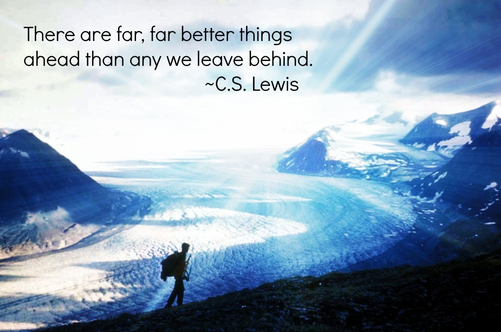 Glacier_and_hiker cs lewis quote