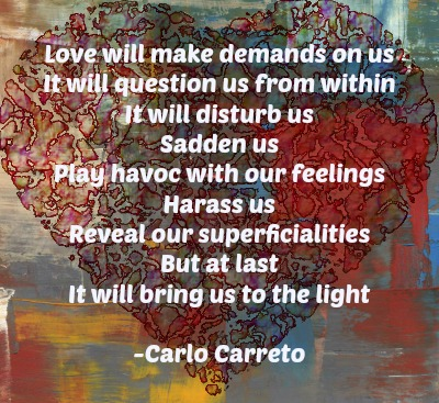 Heart with Carreto saying