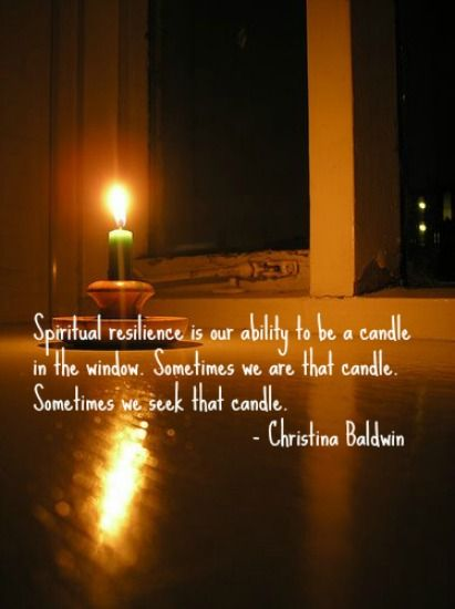 candle window spiritual resilience
