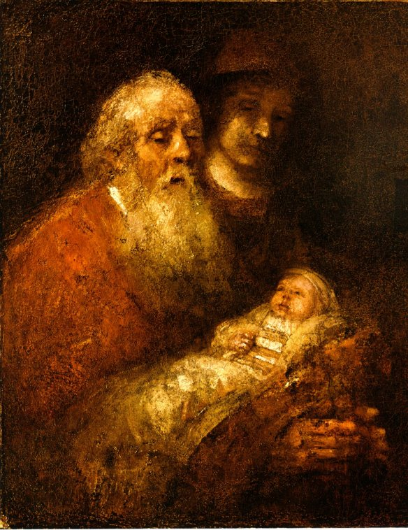 Simeon in the Temple by Rembrandt