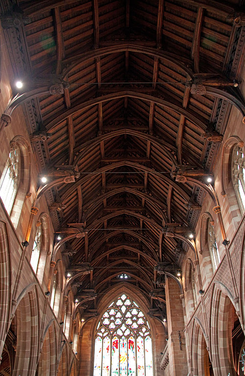St Martin's Church Ceiling, Birmingham, UK. Photo by Tony Hisgett via Wikimedia Commons
