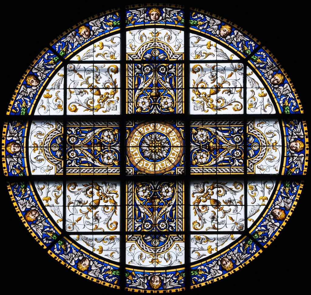 Window from Kirche Enge in Zurich Switzerland. Photo via Wikimedia Commons.