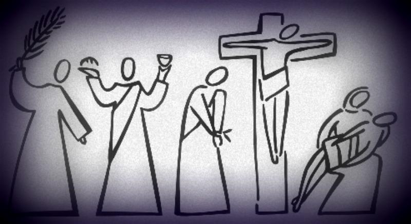 holy week primitive cartoon adapted