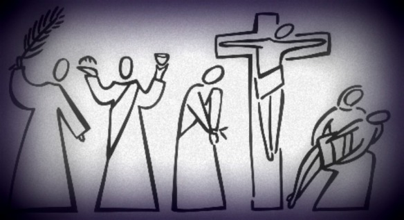 holy week primitive cartoon adapted