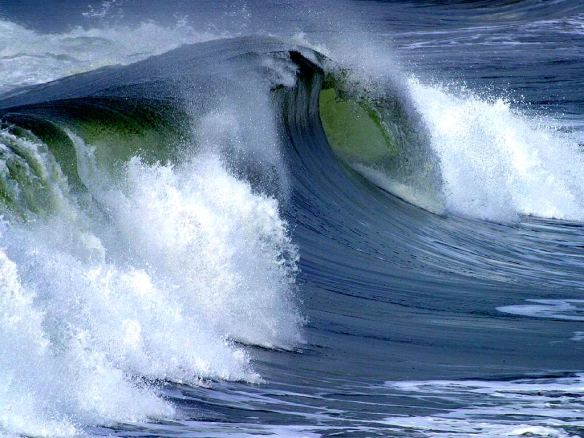 Ocean Surface Wave, photo by Jon Sullivan via Wikimedia Commons, adapted