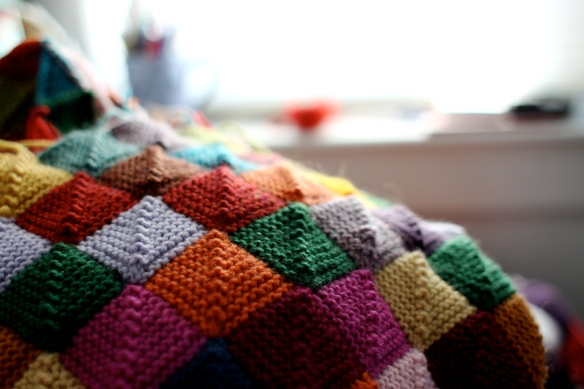 knitting afghan