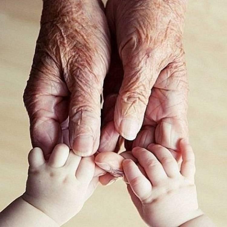 old hands baby hands