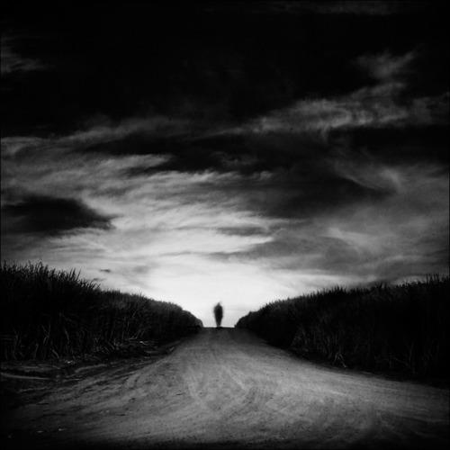 walking home road