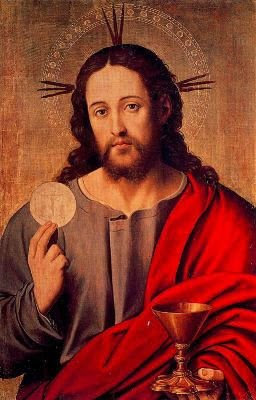 christ eucharist bread icon