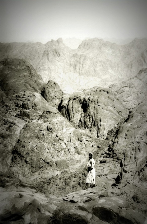 Detail of a photo from a set of photos of the Sinai 100 years ago.