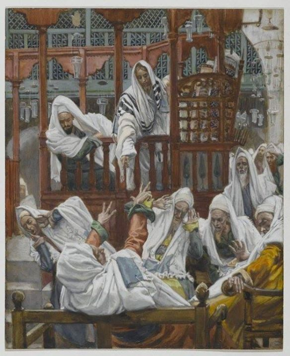 A Demoniac in the Synagogue by James Tissot