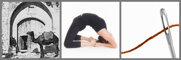 Needle Gate, Camel Pose, Needle and Thread