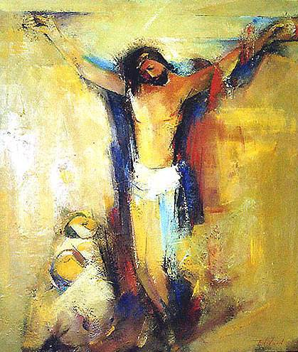 jesus crucifixion mother son