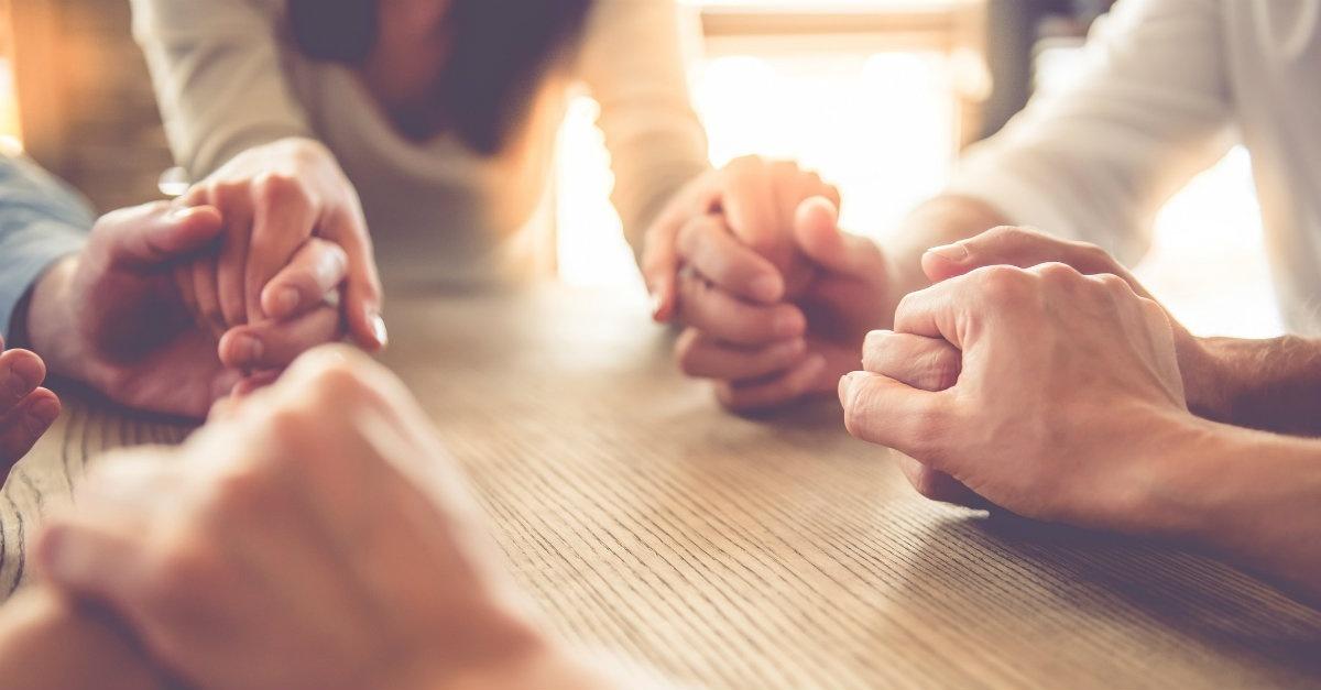 prayer group hands