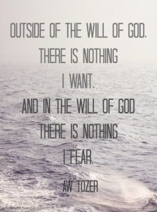 will of god aw tozer