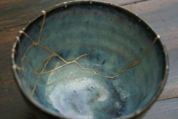 broken mended pot bowl