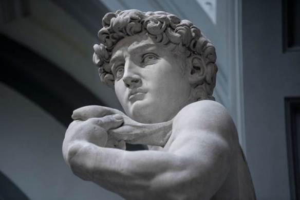 Michelangelo David bust detail