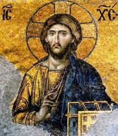 deesis mosaic christ hagai sophia
