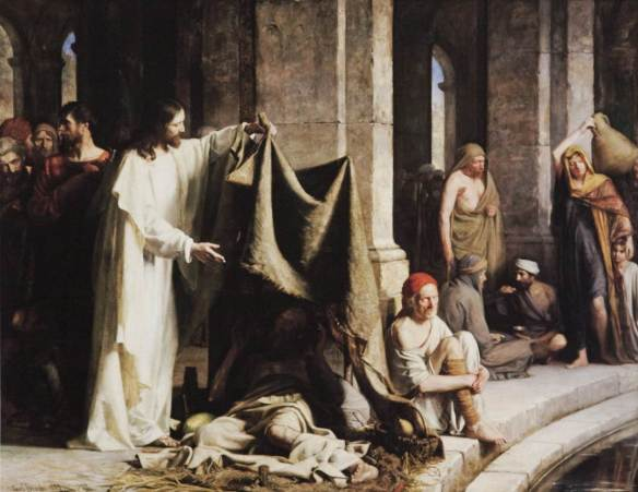 Healing at the pool of bethesda by Carl Bloch