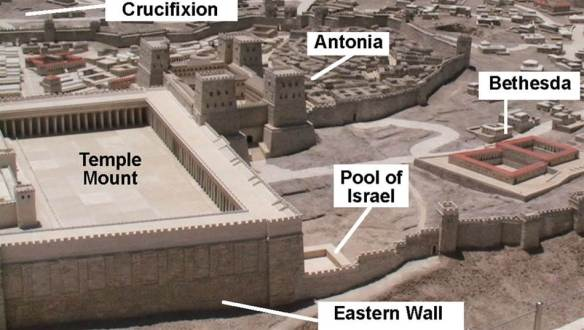 Israel map temple bethesda