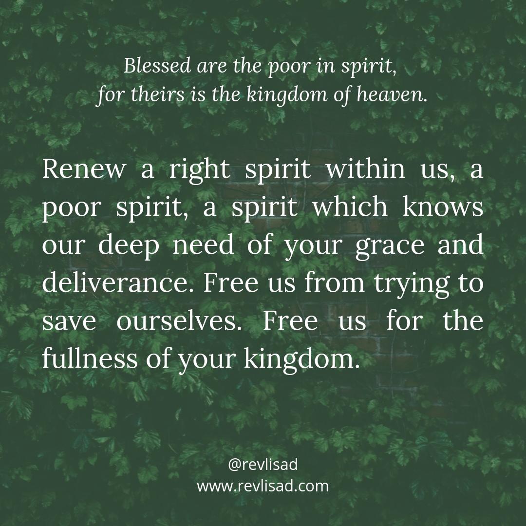 Beatitudes 1 poor in spirit