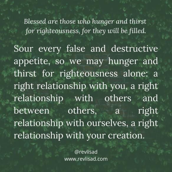Beatitudes 4 hunger thirst
