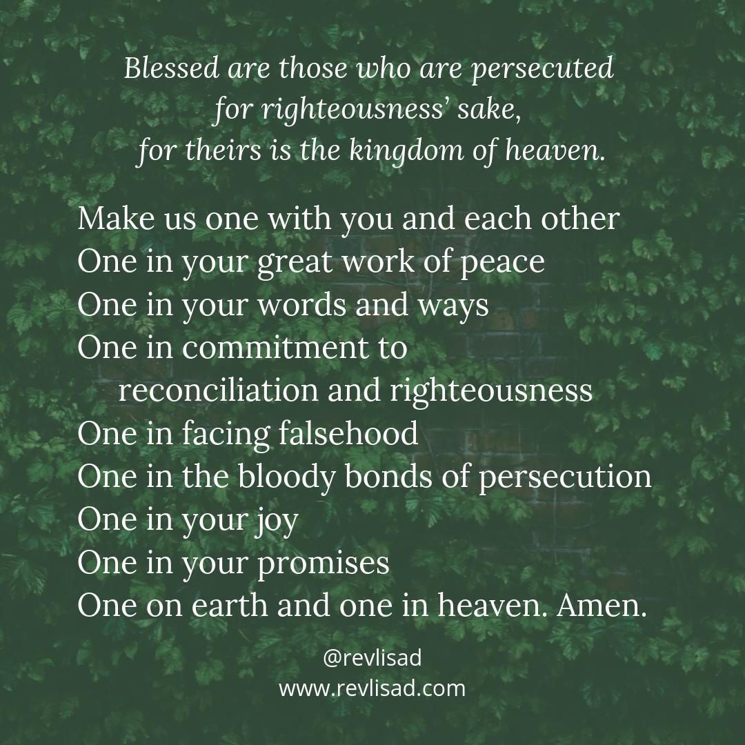 Beatitudes 8 persecution