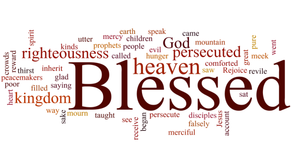 beatitudes wordcloud color