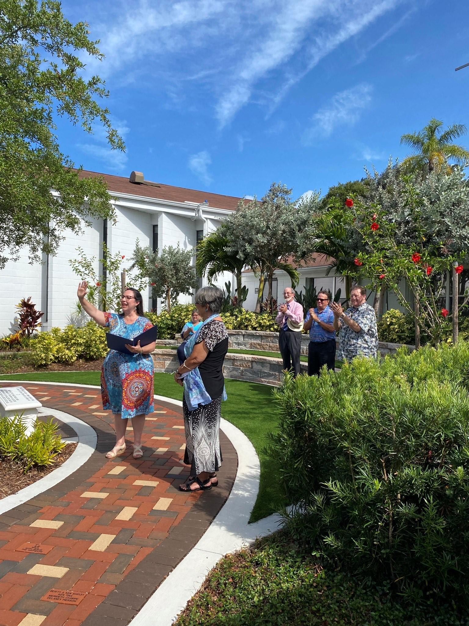 Trinity Garden Dedication
